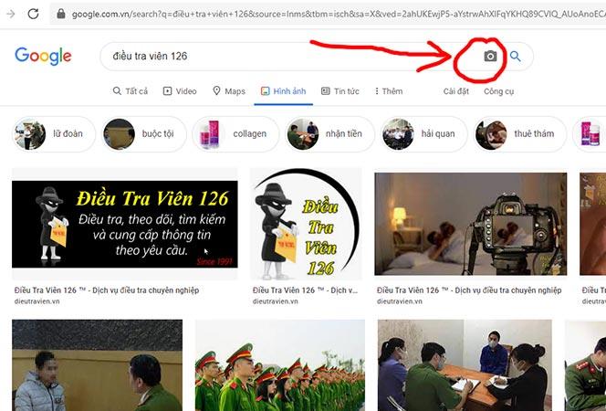 Bước 2: Tải ảnh cần tìm nick Facebook lên