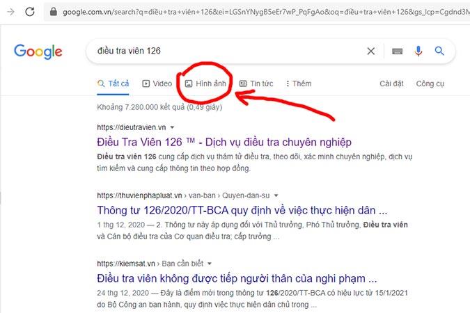 Bước 1: Truy cập Google tìm kiếm bằng hình ảnh