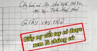 Giấy nợ viết tay có được xem là chứng cứ để kiện đòi tiền được không?