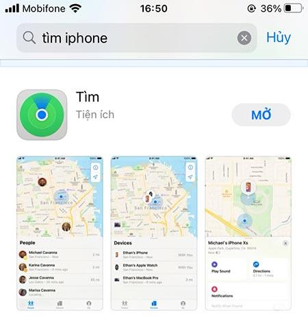 Cách tìm điện thoại iPhone bị mất